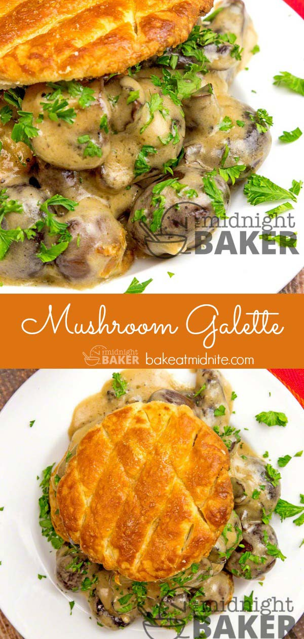 Mushroom galettes are easy to prepare and make a great brunch or meatless dinner.
