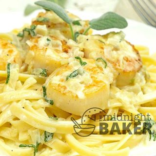 Scallops never tasted so good when you pair them with a creamy onion sage sauce.