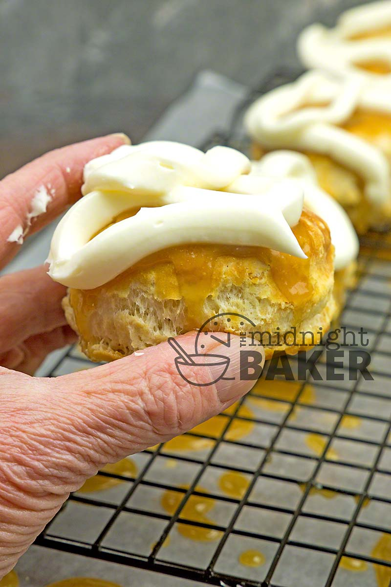 Humble biscuits elevated to a yummy dessert.