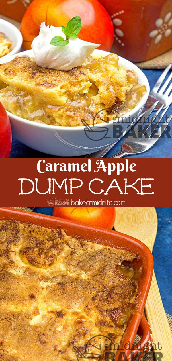 Not just for fall! Enjoy this caramel apple dump cake year round!