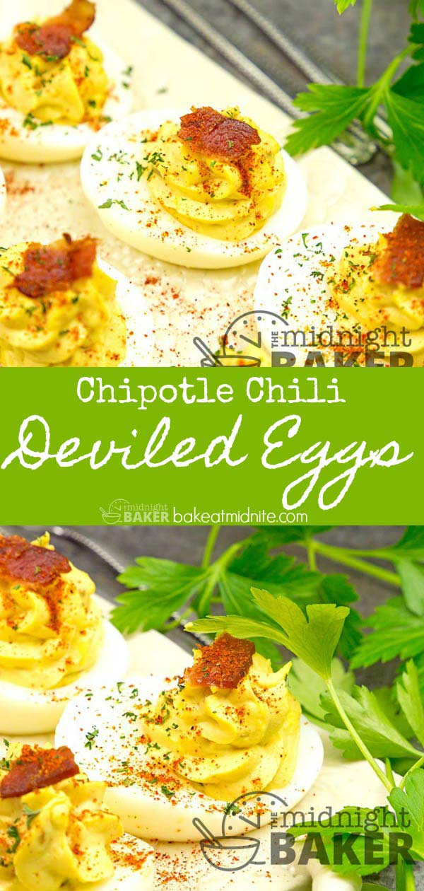 Deviled eggs with a smoky hint of chipotle.