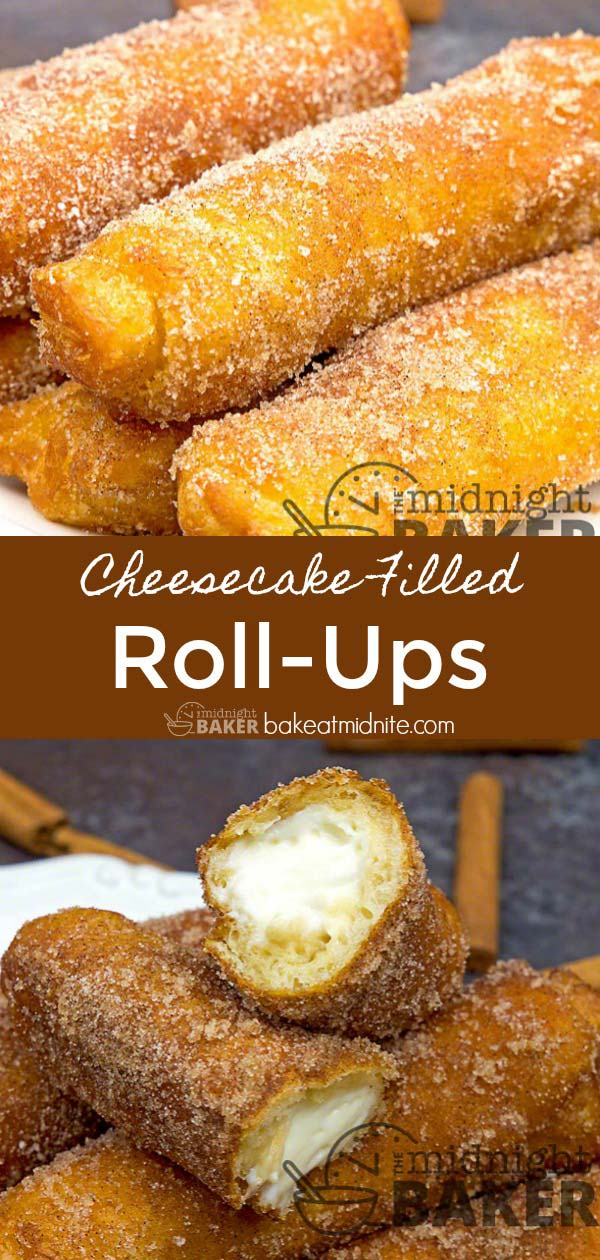 Cheesecake filling rolled up in crescent roll dough...addictive!