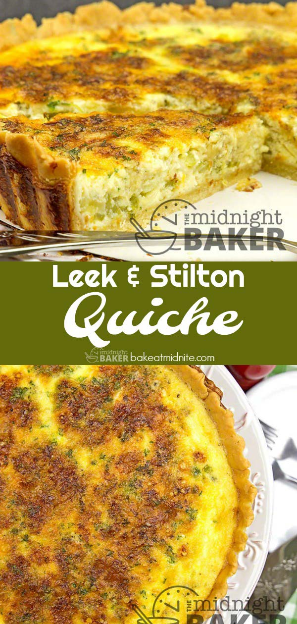 This is a quiche you'll make over and over. Savory leeks and creamy Stilton cheese give it it's great flavor.