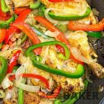 Colorful bell peppers give chicken piperade it's wonderful flavor.