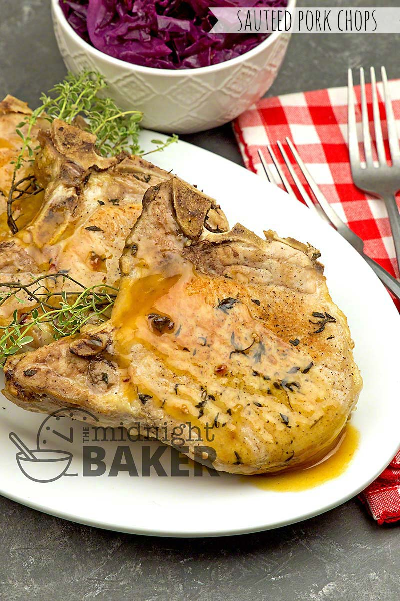 Sauteed pork chops with in interesting dry rub are ready on the double.