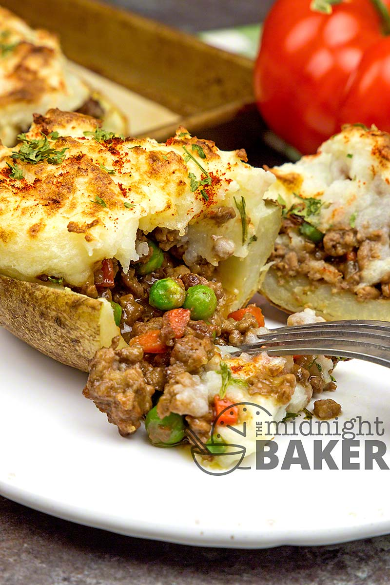 A potato skin is the base of this novel shepherd's pie.