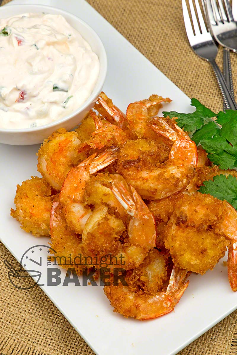 The Cajun-style shrimp is delish, but the garlicky parmesan sauce can stand alone as a dip!
