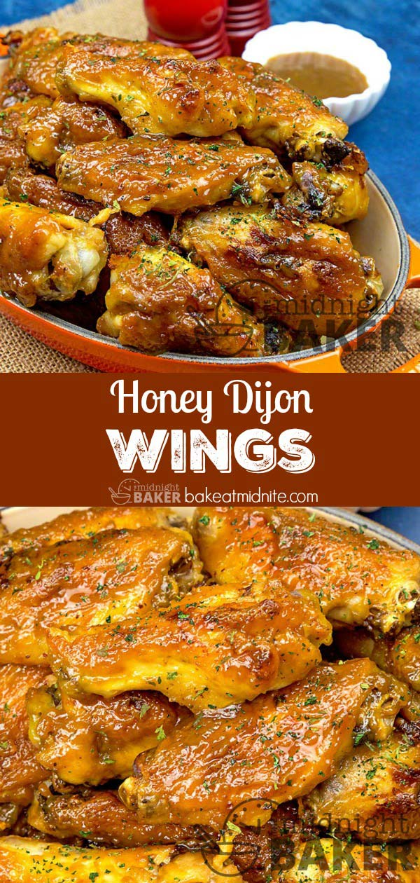 These wings are sweet and sticky with a dijon kick. Sauce works well with any chicken parts.