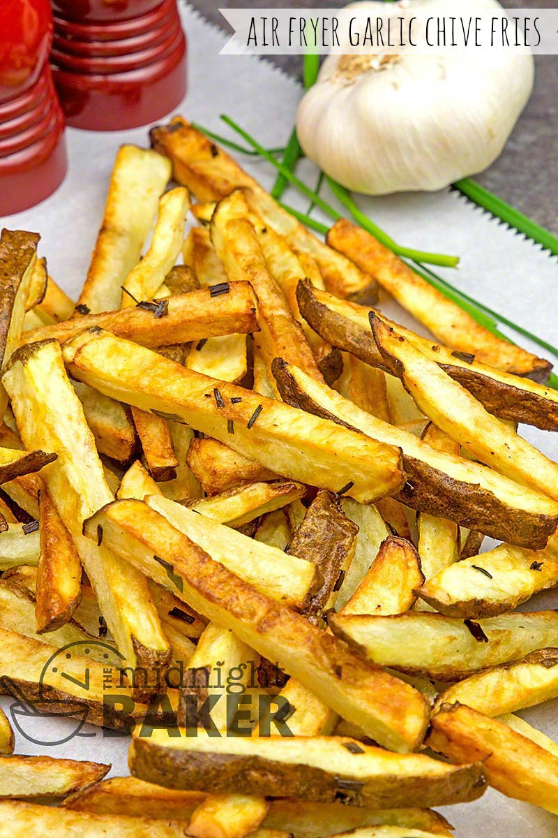 Delicious and garlicky fries made easy in your air fryer. Oven method included too.