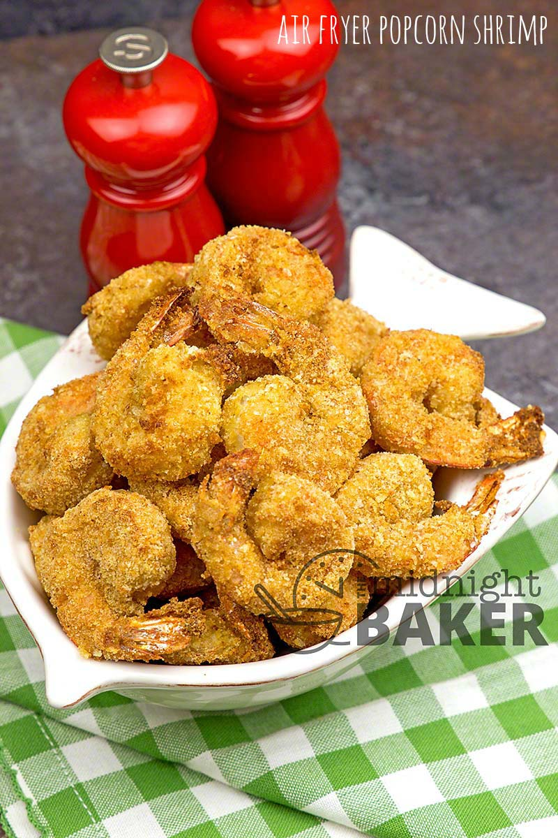 Air Fryer Popcorn Shrimp The Midnight Baker Less Fat