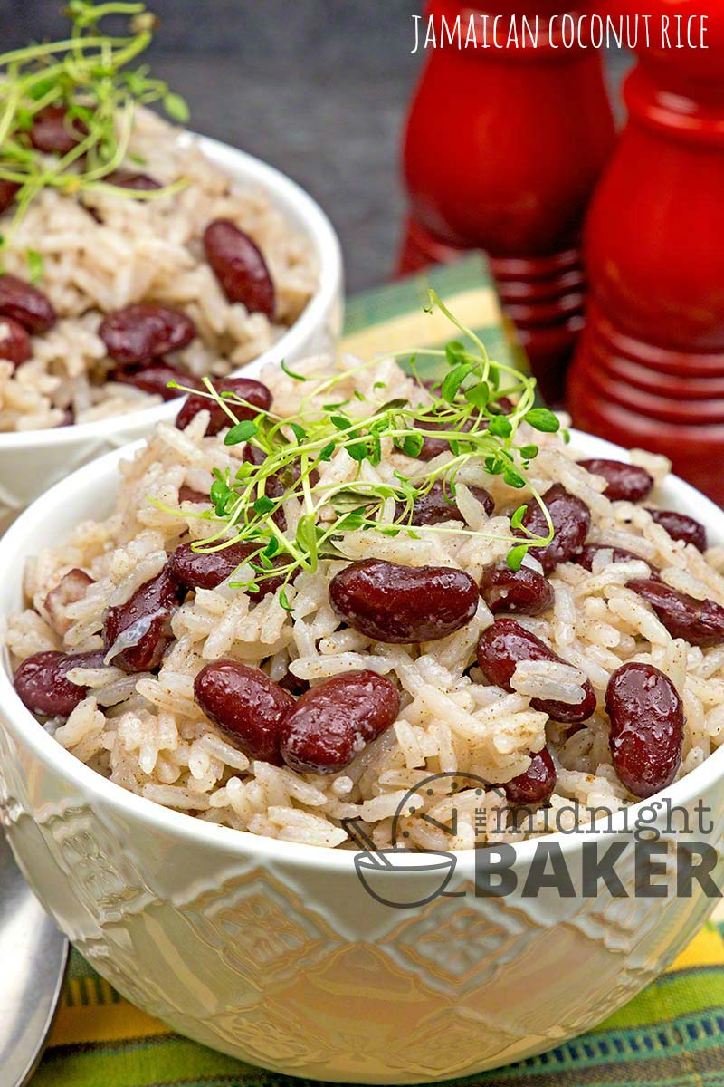 Jamaican Coconut Rice The Midnight Baker Budget Meal
