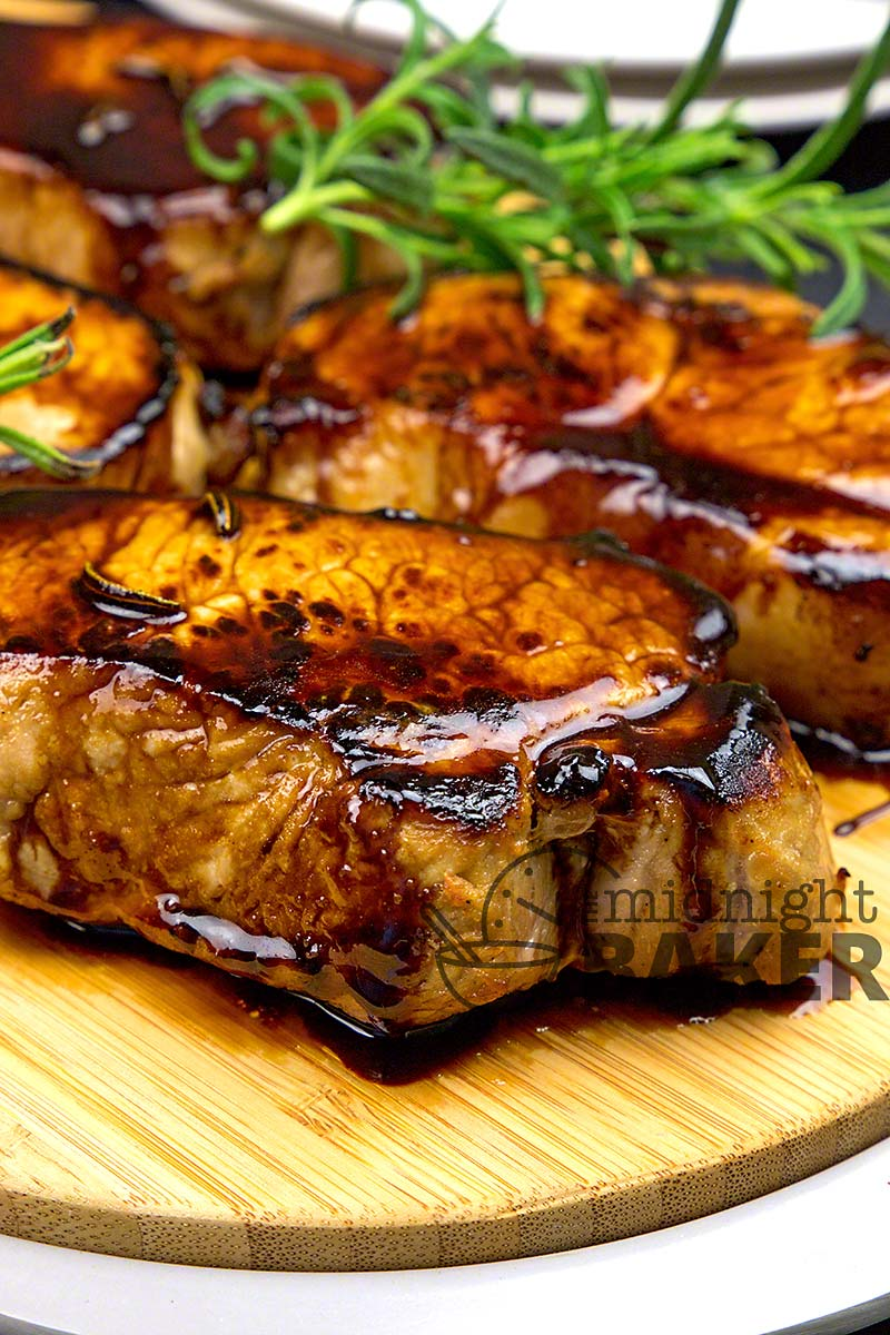 Citrusy brined pork chops with a delicious Jack Daniels glaze.