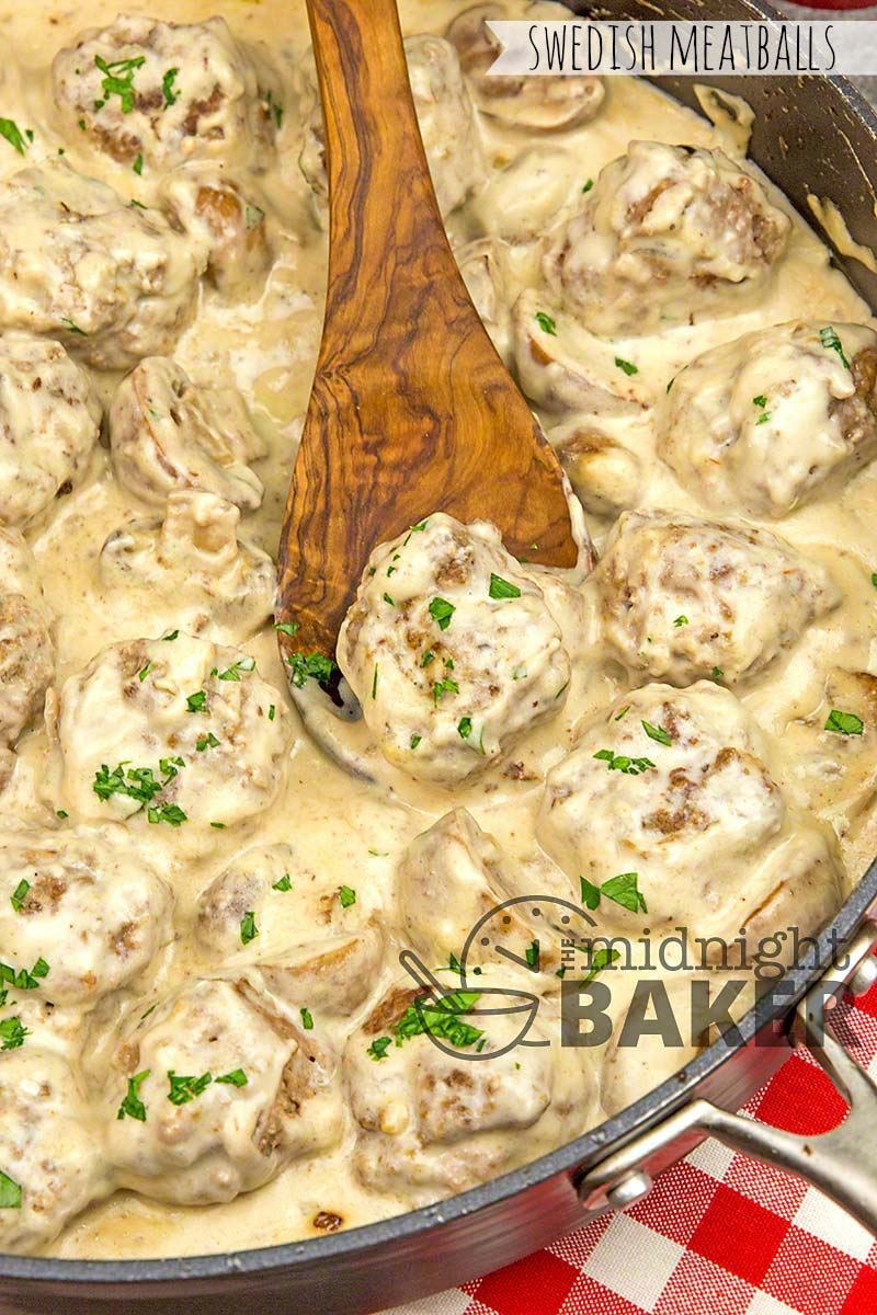 Creamy Swedish meatballs are easy and a great family meal