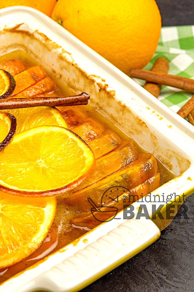 Rich and buttery sweet potatoes that have a hint of orange and cinnamon.