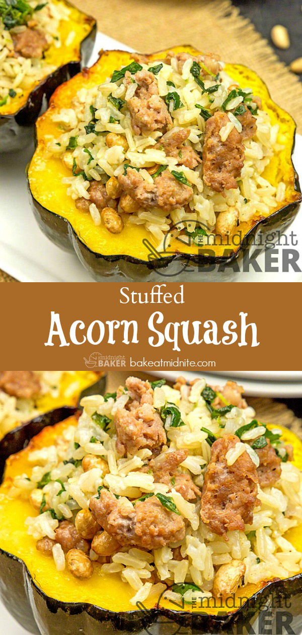 These stuffed acorn squash halves are perfect for a light fall dinner. Easy to make!