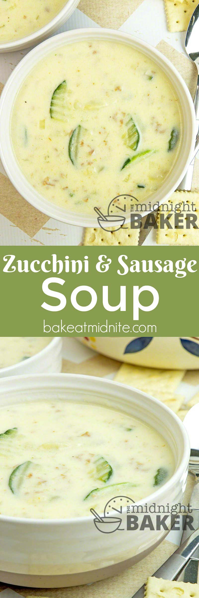 Use up some of that summer zucchini in this hearty soup
