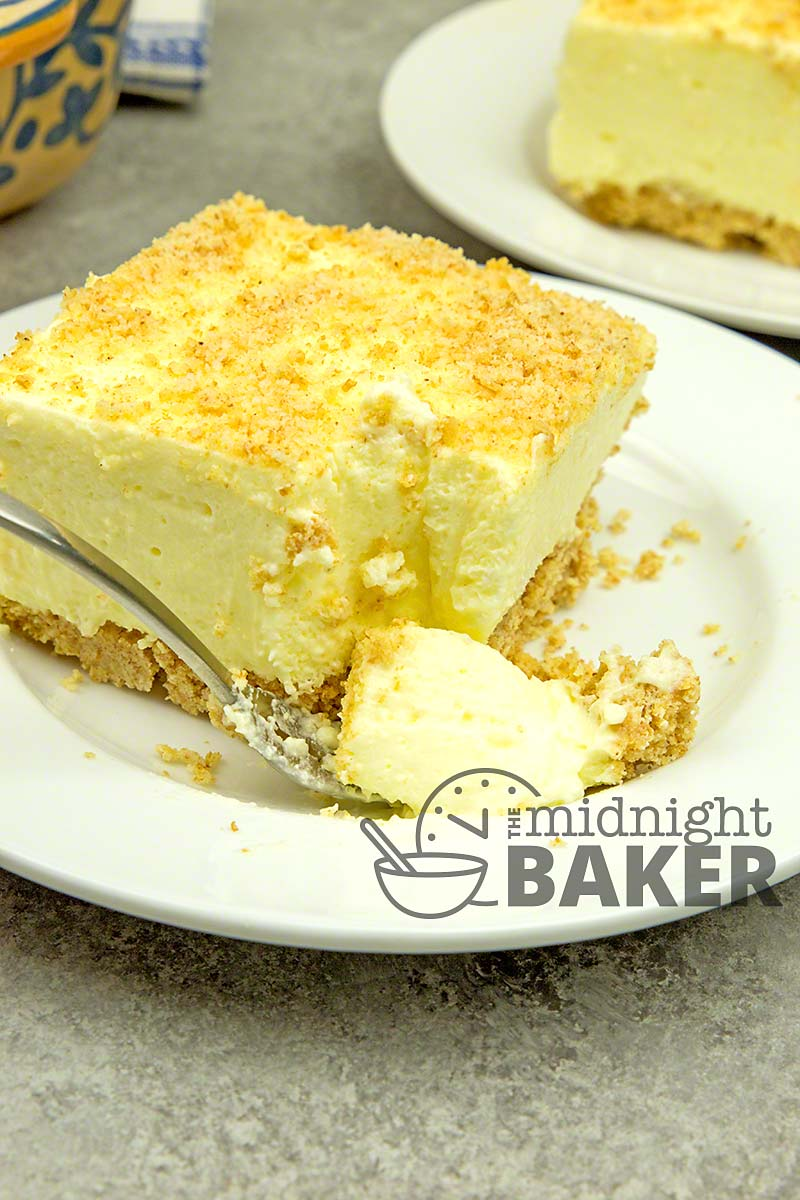 Much like a mousse, Woolworth cheesecake is light and lemony. Easy to make and no baking required.