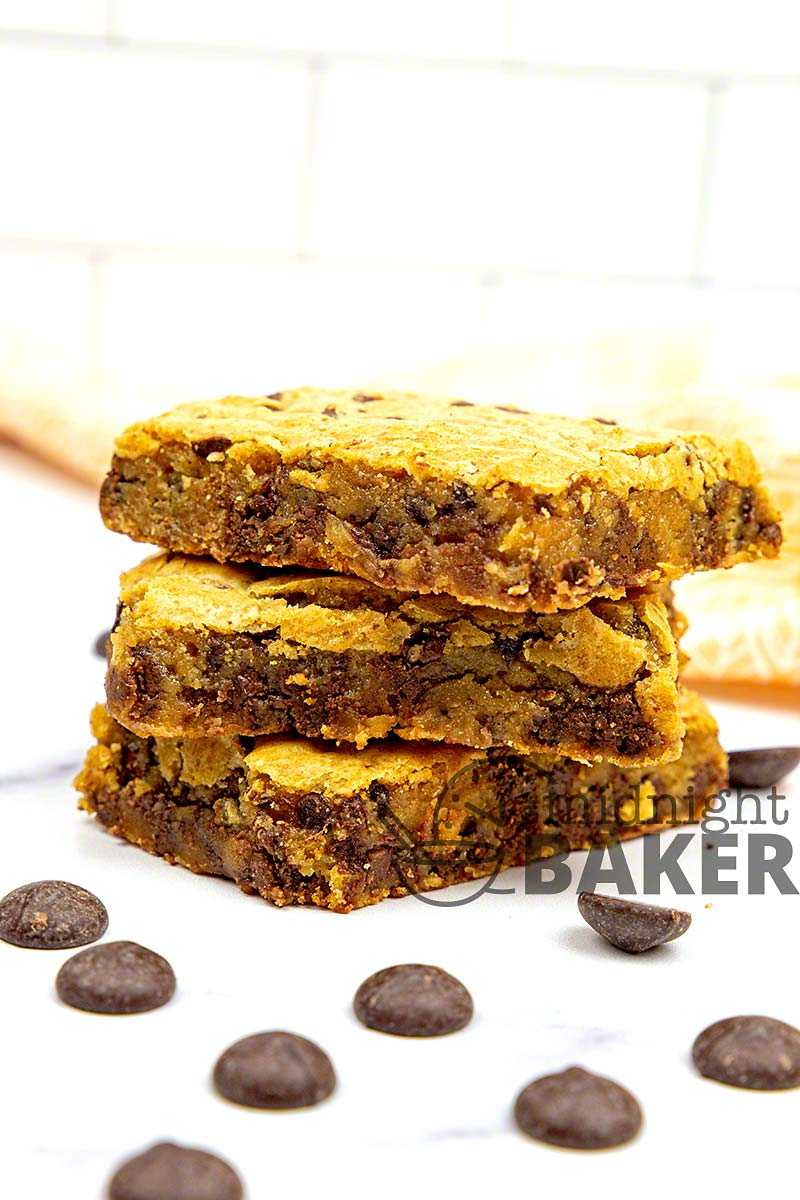 Congo bars are an easy bar cookie that's ooey and gooey and loaded with chocolate.