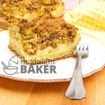 Delightful cross between crumb cake and cheesecake!