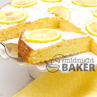 Lemon ricotta cake is bursting with bright citrusy flavor.