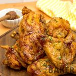 Crispy and garlicky air-fried chicken/