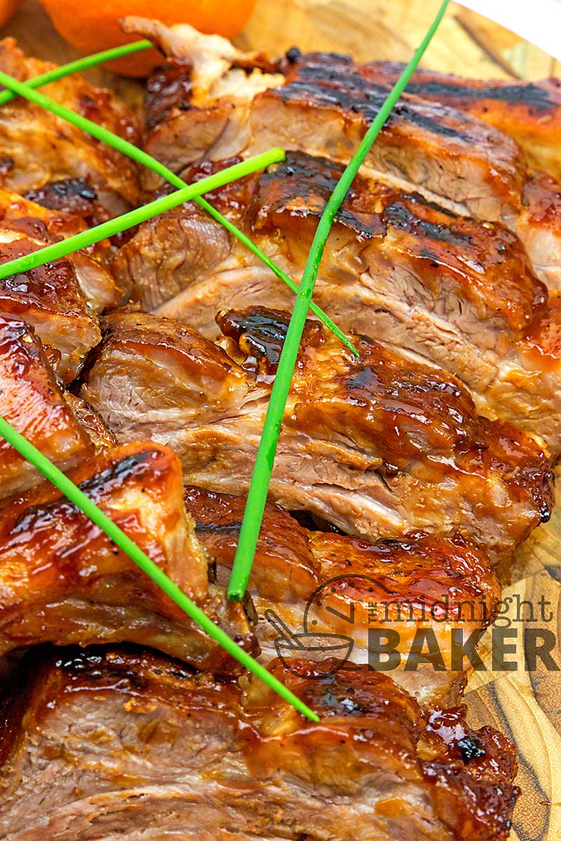 Pork ribs with a hint of orange