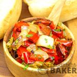 Relish made with roasted red bell peppers